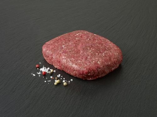 Bifteck haché de boeuf reconstitué